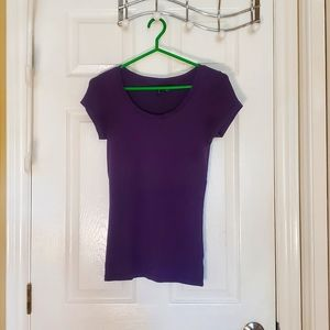 M Sized Purple Cotton Cynthia Rowley Tee-shirt